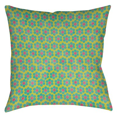 Emilys Ditsy Garden Indoor/Outdoor Throw Pillow Size: 16 H x 16 W x 4 D