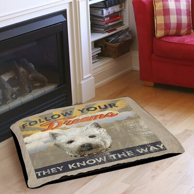 Dog Days - Pek Pup Indoor/Outdoor Pet Bed Size: 30 L x 40 W