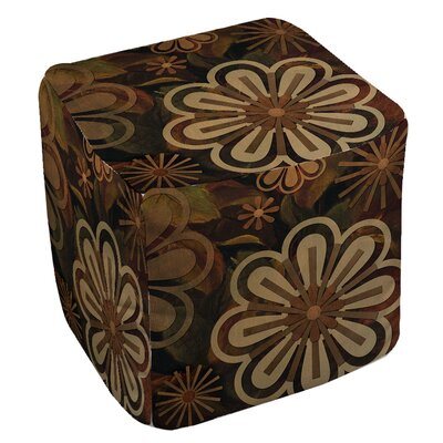 Floral Abstract 2 Ottoman