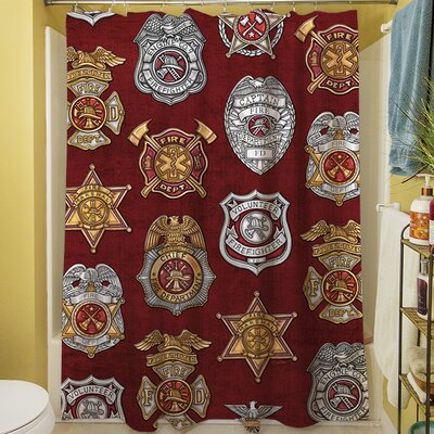 Firefighter Badges Shower Curtain