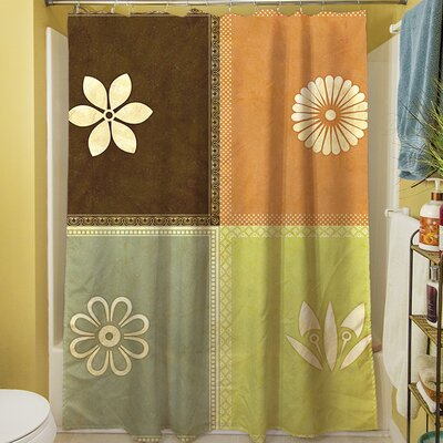Graphic Garden Sage Shower Curtain