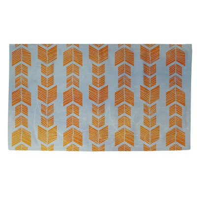 Featherwood Orange/Blue Area Rug Rug Size: 4 x 6