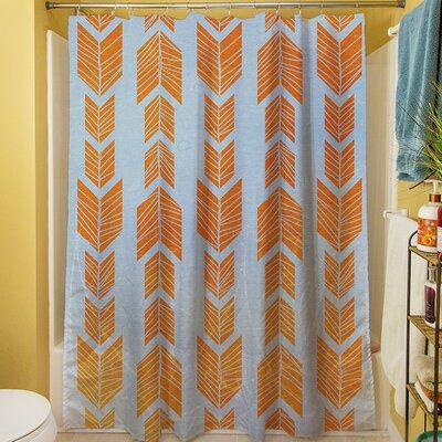 Debarr Shower Curtain Color: Orange
