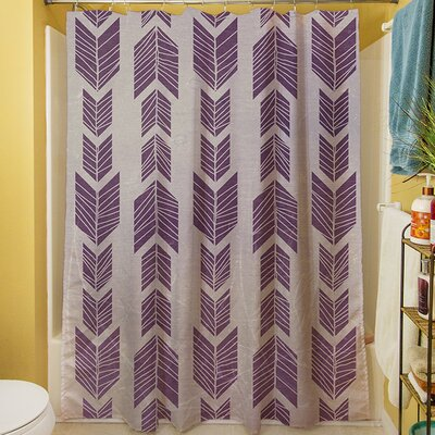 Featherwood Shower Curtain Color: Purple