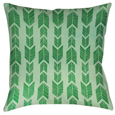 Lucina Printed Throw Pillow Size: 26 H x 26 W x 7 D, Color: Green