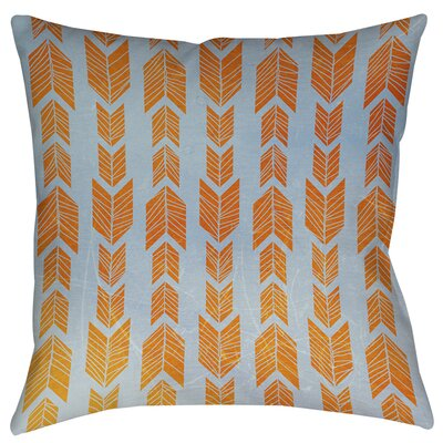 Lucina Printed Throw Pillow Size: 14 H x 14 W x 3 D, Color: Orange