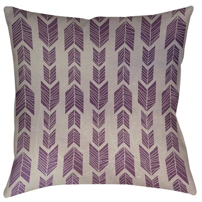 Featherwood Printed Throw Pillow Size: 16 H x 16 W x 4 D, Color: Purple