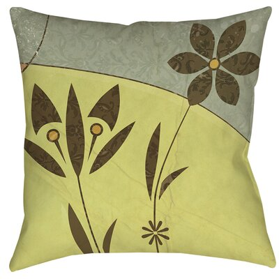 Graphic Garden Selene Printed Throw Pillow Size: 16 H x 16 W x 4 D