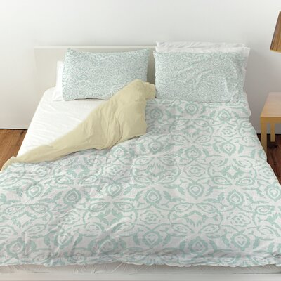 Flowing Damask 2 Duvet Cover Size: Queen
