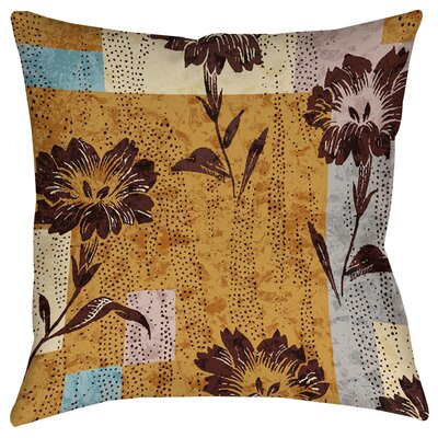 Floral Study in Blocks Printed Throw Pillow Size: 16 H x 16 W x 4 D
