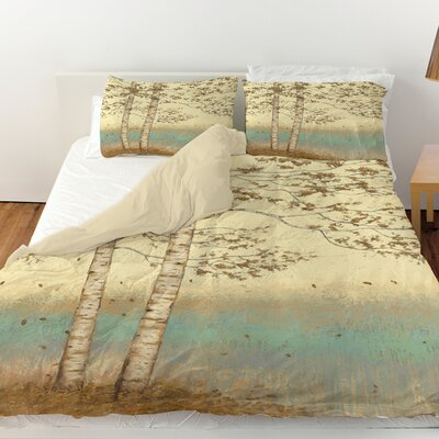 Golden Birch 2 Duvet Cover Size: King