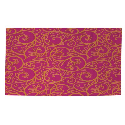 Funky Florals Swirl Pattern Area Rug Rug Size: 2 x 3