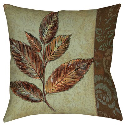 Golden Leaf 1 Printed Throw Pillow Size: 14 H x 14 W x 3 D