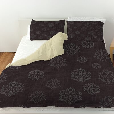 Flowing Medallion Duvet Cover Size: Twin