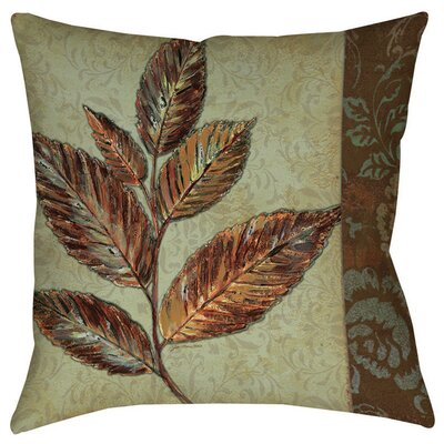Golden Leaf 1 Indoor/Outdoor Throw Pillow Size: 18 H x 18 W x 5 D