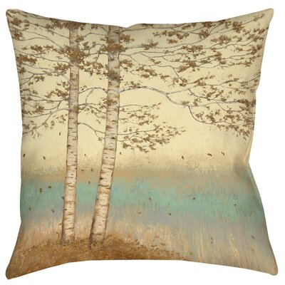 Golden Birch 2 Printed Throw Pillow Size: 26 H x 26 W x 7 D
