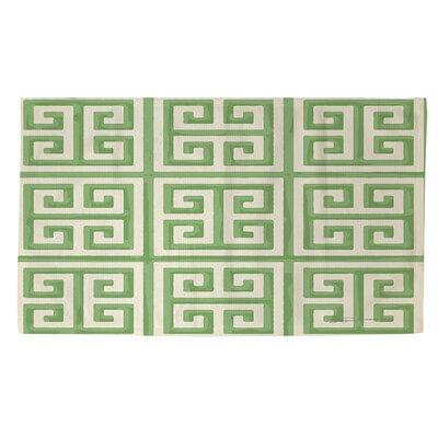 Greek Key 2 Mint Area Rug Rug Size: 4 x 6