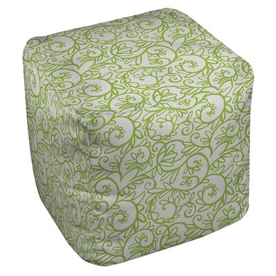 Funky Swirl Pouf Upholstery: White