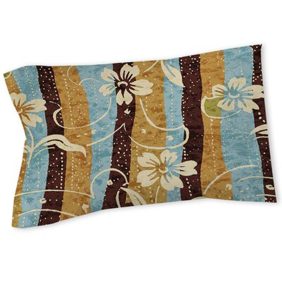 Floral Study in Stripes Sham Size: Queen/King