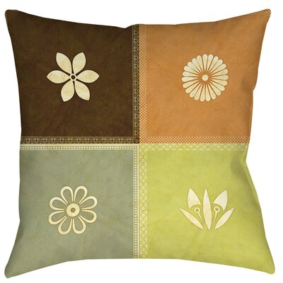Graphic Garden Sage Indoor/Outdoor Throw Pillow Size: 18 H x 18 W x 5 D