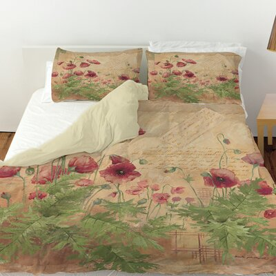 Floral 1 Duvet Cover Size: King