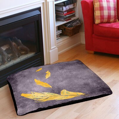 Feather Float Pet Bed Size: 28 L x 18 W, Color: Gold