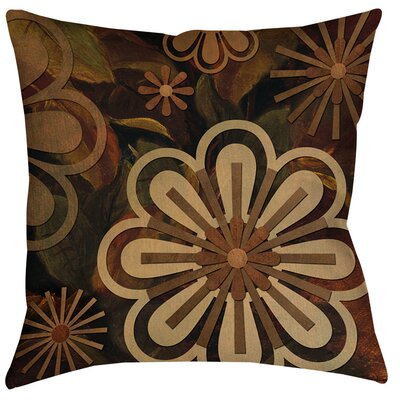 Floral Abstract II Indoor/Outdoor Throw Pillow Size: 18 H x 18 W x 5 D