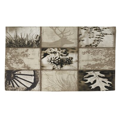 Mountain Retreat I Gray/Beige Area Rug Rug size: 4 x 6