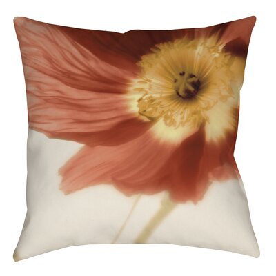 Mystic Poppy 1 Printed Throw Pillow Size: 14 H x 14 W x 3 D