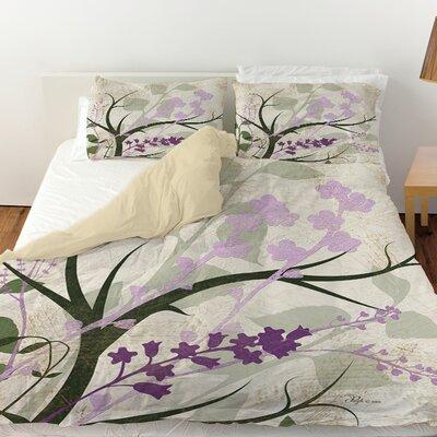 Lavender and Sage Flourish Duvet Cover Size: King