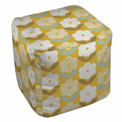 Jar of Sunshine Vintage Blossoms Pouf
