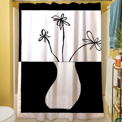 Minimalist Flower in Vase IV Shower Curtain