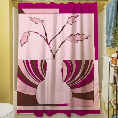 Minimalist Flowers I Shower Curtain