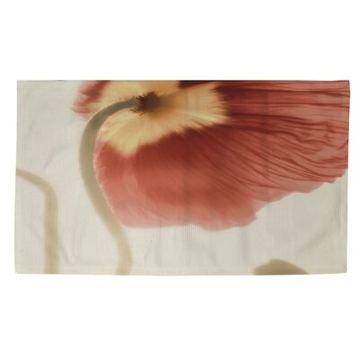 Mystic Poppy 2 Cream/Orange Area Rug Rug size: 4 x 6