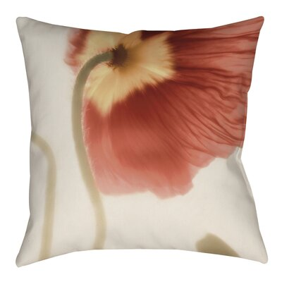Mystic Poppy 2 Printed Throw Pillow Size: 26 H x 26 W x 7 D