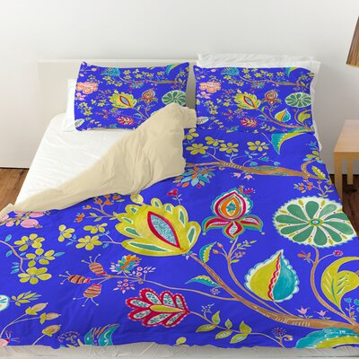 La Roque Summer Floral Duvet Cover Size: Queen