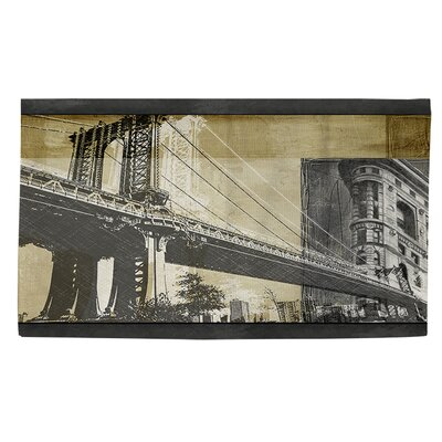 Metropolitan Collage 2 Black Area Rug Rug size: 2 x 3