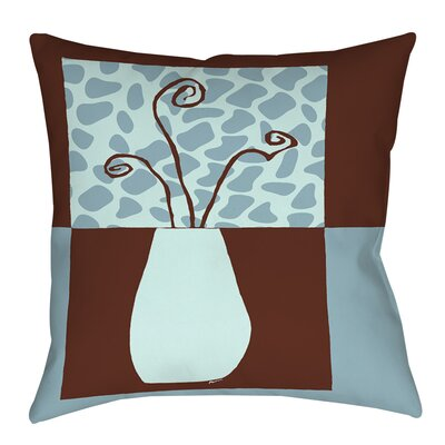 Minimalist Flowers 3 Indoor/Outdoor Throw Pillow Size: 18 H x 18 W x 5 D