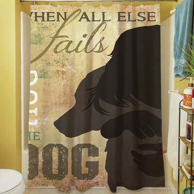 Hug the Dog Shower Curtain