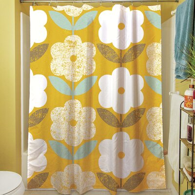 Jar of Sunshine Vintage Blossoms Shower Curtain
