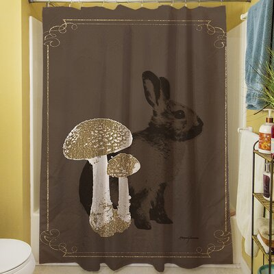 Luxury Lodge Rabbit Shower Curtain
