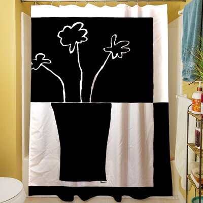 Minimalist Flower in Vase II Shower Curtain
