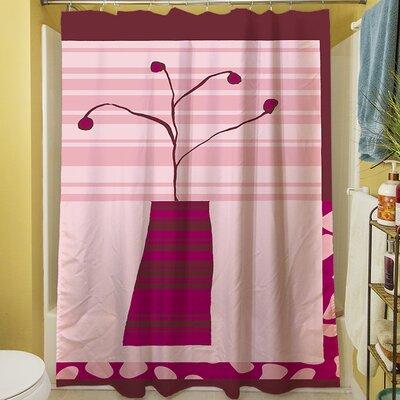 Minimalist Flowers IV Shower Curtain