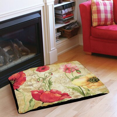 Large Poppy Heads Indoor/Outdoor Pet Bed Size: 28 L x 18 W
