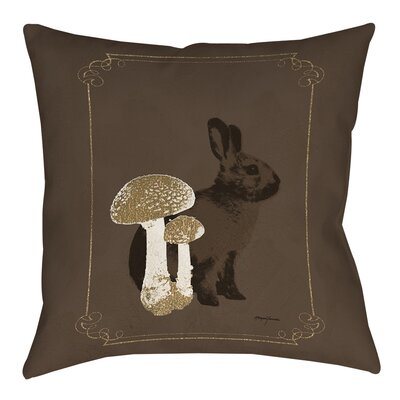 Luxury Lodge Rabbit Printed Throw Pillow Size: 18 H x 18 W x 5 D