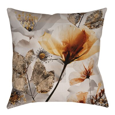 Happy Days Indoor/Outdoor Throw Pillow Size: 20 H x 20 W x 5 D