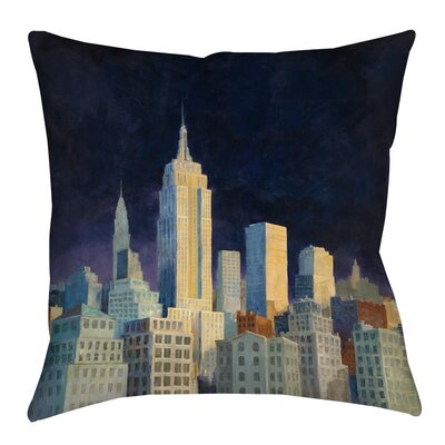 Midnight in Midtown Indoor/Outdoor Throw Pillow Size: 18 H x 18 W x 5 D