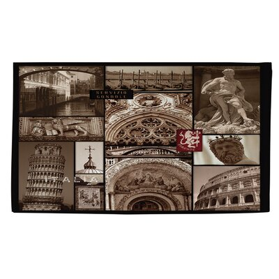 Italy Brown Area Rug Rug size: 4 x 6