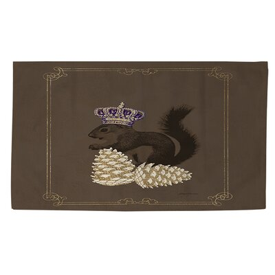 Luxury Lodge Squirrel Brown Area Rug Rug size: 2 x 3
