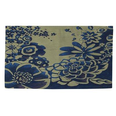 Kyoto Garden 3 Blue Area Rug Rug size: 4 x 6
